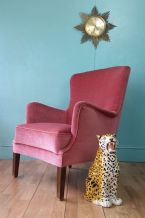 Danish pink lounge chair - SOLD